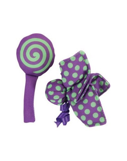 """Zabawka Dla Kota Candy Toys """"Kwiatek i Cukierek"""" z Kocimiętką Kol. Fioletowy"""