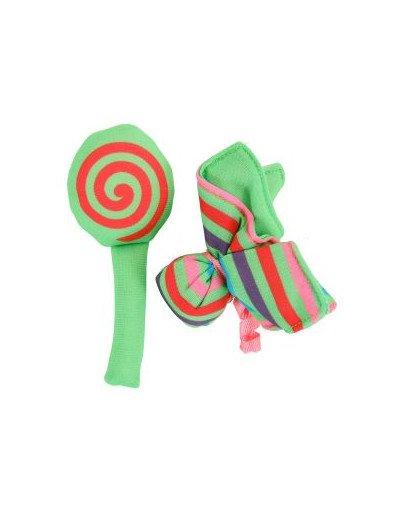 """Zabawka Dla Kota Candy Toys """"Kwiatek i Cukierek"""" z Kocimiętką Kol. zielony"""