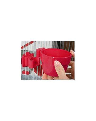 Miska Plastikowa Do Zawieszenia Śr. 12 cm Kol. Czerwony