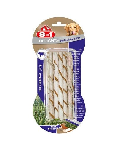 Przysmak Delights Beef Twisted Sticks 10 Szt