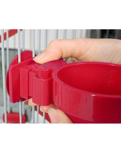 Miska Plastikowa Do Zawieszenia Śr. 9,5 cm Kol. Czerwony