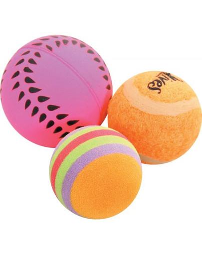 Zabawki Dla Kota 3 Piłki Różne 4 cm