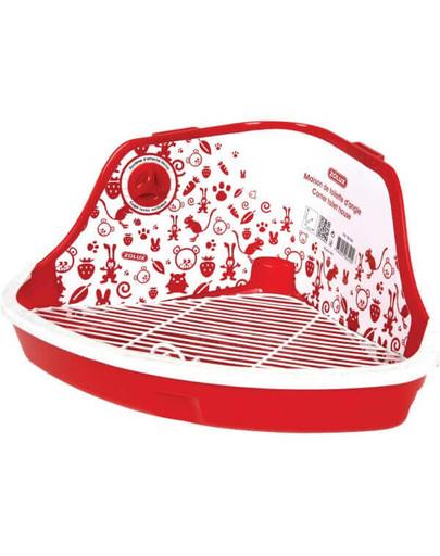 Toaleta Narożna Mała 320x230x145 mm Czerwona
