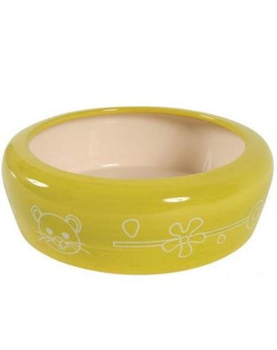 Miska Ceramiczna Dla Gryzonia Zapobiega Wydostawaniu Się Karmy Lub Wody 700 ml Kol. Seledynowy