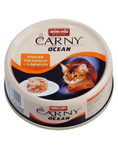 Carny ocean puszka 0.08 kg kot biały tuńczyk / wołowina
