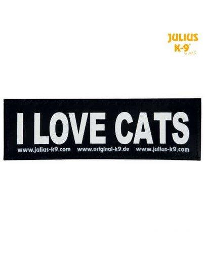 Naklejka Na Rzep 2 Julius-K9, S, I LOVE CATS