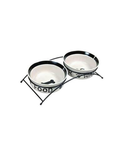 Miski ceramiczne na stojaku 0.6 l