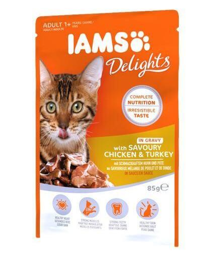 Cat Adult All Breeds Chicken & Turkey In Gravy Pouch 85 g