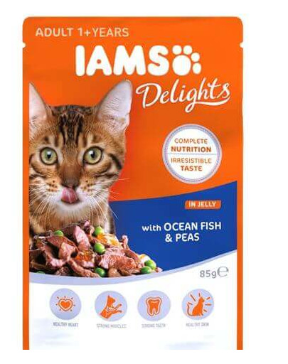 Cat Adult All Breeds Ocean Fish & Green Beans In Gravy Pouch 85 g