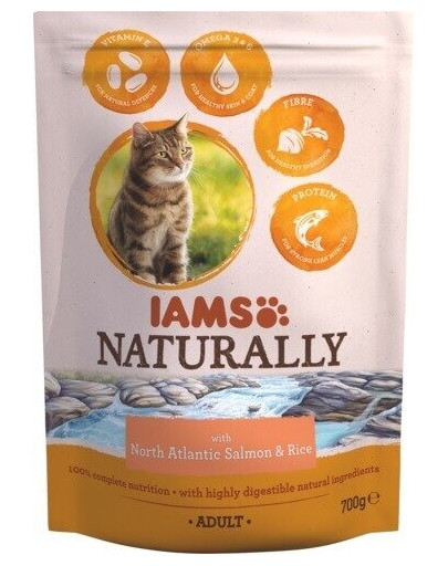 Naturally Adult Cat with North Atlantic Salmon & Rice 270 g