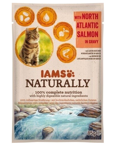 Naturally Adult Cat with North Atlantic Salmon in Gravy 85 g