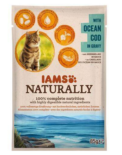 Naturally Adult Cat with Ocean Cod in Gravy 85 g