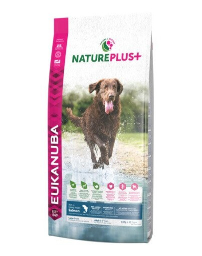 Nature Plus+ Adult Large Breed Rich in freshly frozen Salmon 14 kg