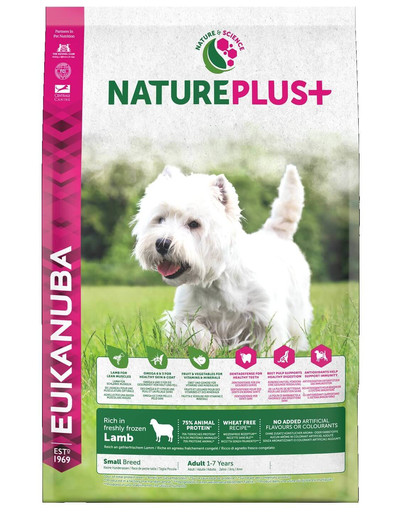 Nature Plus+ Adult Small Breed Rich in freshly frozen Lamb 10 kg