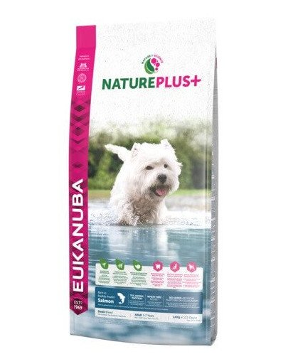 Nature Plus+ Adult Small Breed Rich in freshly frozen Salmon 10 kg