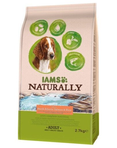 Naturally Adult Dog rich in North Atlantic Salmon & Rice 2,7 kg