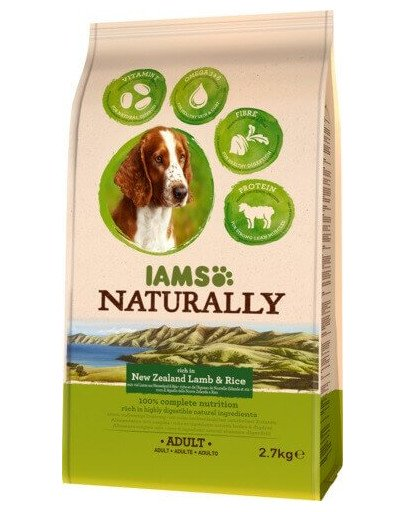 Naturally Adult Dog rich in New Zealand Lamb & Rice 2,7 kg