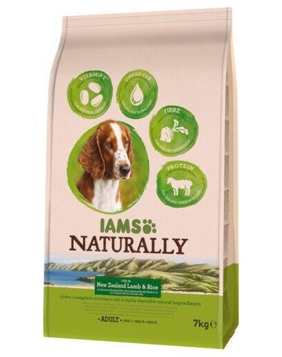 Naturally Adult Dog rich in New Zealand Lamb & Rice 7 kg