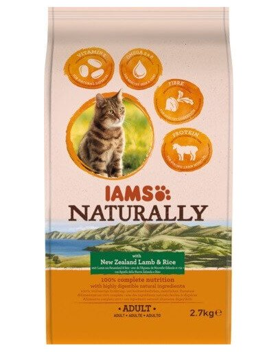 Naturally Adult Cat with New Zealand Lamb & Rice 2,7 kg