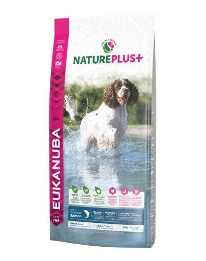 Nature Plus+ Adult Medium Breed Rich in freshly frozen Salmon 2,3 kg