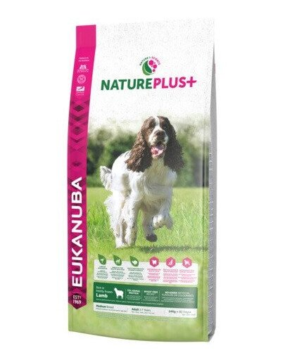 Nature Plus+ Adult Medium Breed Rich in freshly frozen Lamb 14 kg