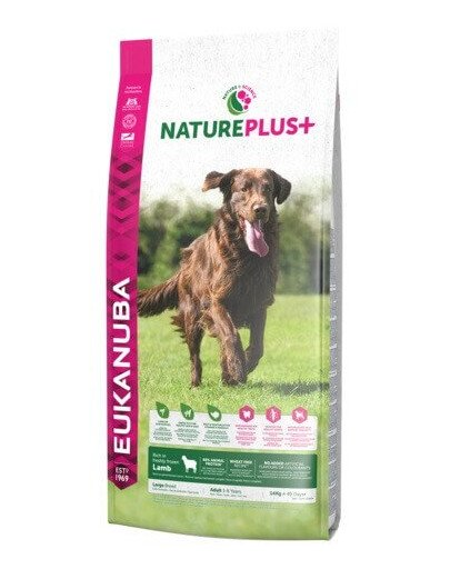 Nature Plus+ Adult Large Breed Rich in freshly frozen Lamb 10 kg