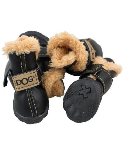 Buty dla psa T1 (4x3cm. wysokość cholewki 7cm) czarne-4szt.