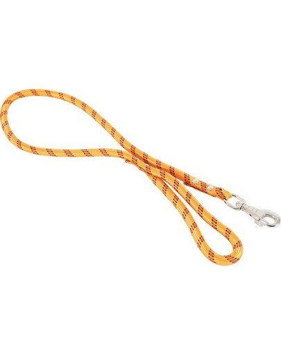 Smycz nylonowa sznur 13mm/1.2m pomarańczowa