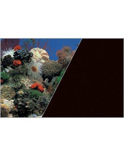 Tło Akwariowe Dwustronne 60 cm x 15 m Rafa Koralowa Nieb./Czarne