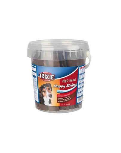 Miękkie przekąski dla psa happy stripes 500 g