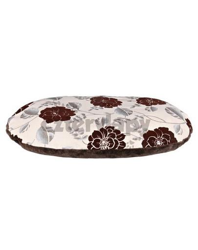 """Poduszka dla psa """"Daphne"""" 120x80 cm, beżowo/brązowa, kwiatowy wzór"""