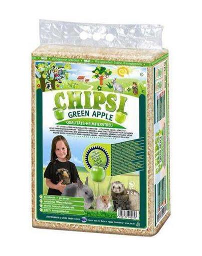 Chipsi Green Apple - trociny jabłkowe 60 l