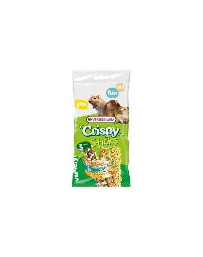 Crispy Sticks Omnivores Triple Variety Pack 165 g 3 Kolby dla Chomików, Myszy, Szczurów
