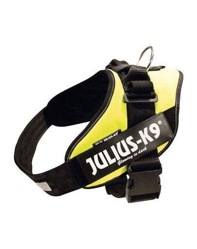 Szelki Julius-K9 Idc , 4/XL: 96–138 cm, Neonowy Żółty