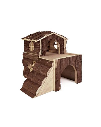 'Bjork' hamster house. natural wood. 15 x 15 x 16 cm
