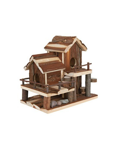 Hamster'S house birte natural wood 25 x 24 x 16 cm