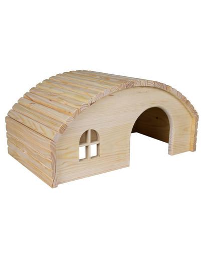 Drewniany domek dla świnki morskiej. 29 x 17 x 20 cm