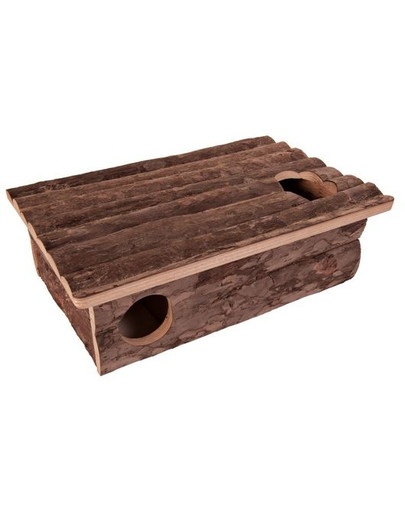 Domek drewniany dla chomika  35 x 11 x 25 cm