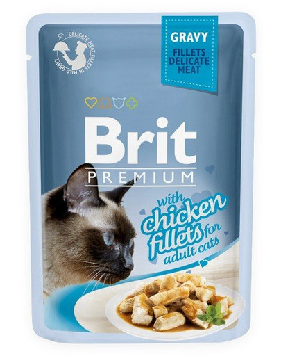 Premium Cat Fillets in Gravy kurczak 85g