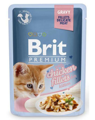 Premium Cat Fillets in Gravy Kitten kurczak 85g