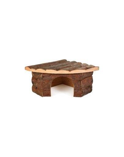 Drewniany domek narożny dla świnki morskiej jesper . 32 X 13 X 21/21 cm