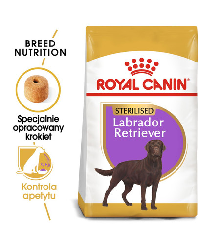 Labrador retriever adult sterilised 12 kg