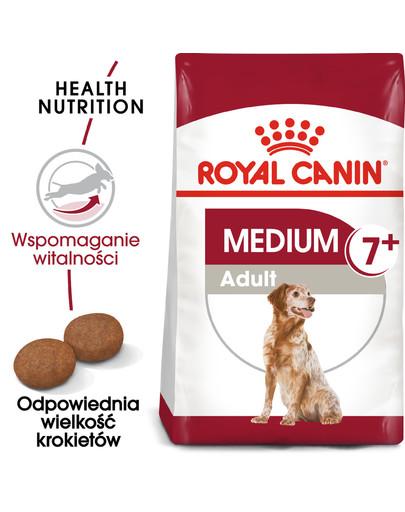 Medium Adult 7+ 15 kg karma sucha dla psów starszych od 7 do 10 roku życia, ras średnich