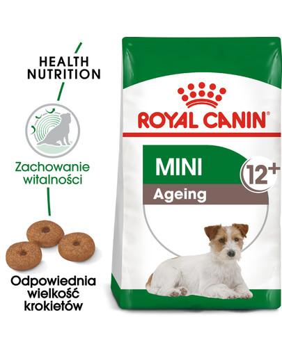 Mini Adult 12+ 800 g karma sucha dla psów dojrzałych po 12 roku życia, ras małych