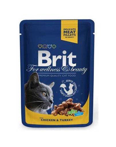 Premium Cat Adult kurczak i indyk saszetka 100g