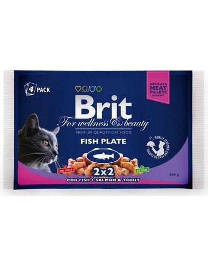 Zestaw saszetek Cat Adult Fish Plate 4x100g