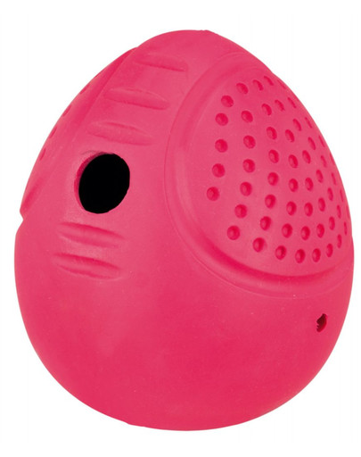 Piłka jajko na smakołyki, kauczuk, 8 cm