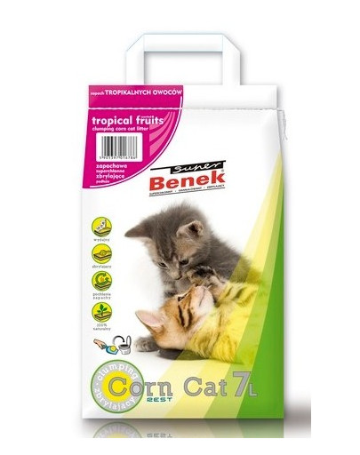 Super Corn Cat owoce tropikalne 7 l