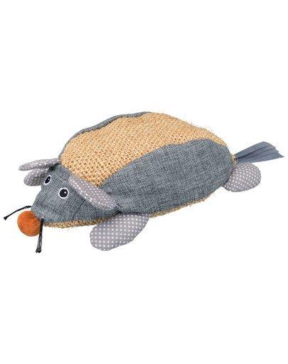 Mysz z sizalu, materiał, 30 cm, szara