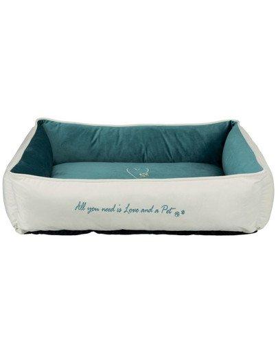 Legowisko Pet's Home bed, 80 × 60 cm, kremowe/petrol